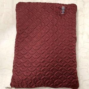 Burgundy Travel Blanket Pillow bundle for Plane